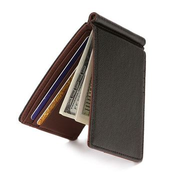 New Fashion Zipper Mens Wallet With Money Clip Small Money Purses Dollar Slim Purse