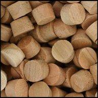 "WIDGETCO 3/8"" Cherry Wood Plugs, Face Grain"