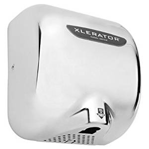 Nozzle: 1.1N sound reduction BMC XLERATOR Automatic Surface Mounted Hand Dryer Voltage: 277V White Thermoset 5.5 Amp