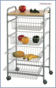 Home Storage Cart With Drawer/kitchen Metal Cart/metal Kitchen ...