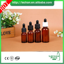 black amber clear green blue matte e liquid perfume glass bottle 30ml essential oil ejuice glass dropper bottle with paper tube