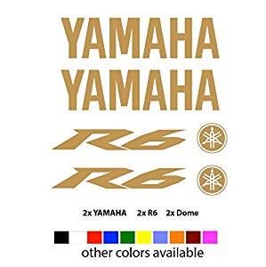 Yamaha  Aufkleber Gold Yamaha Stickers Gold