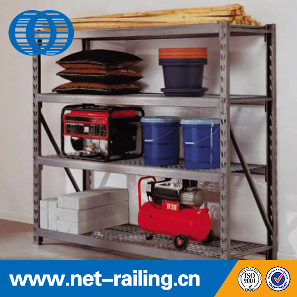 Multi-tier slotted metal industrial tool rack