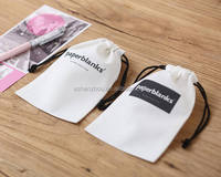 Eco friendly personalized custom print promotional recycle muslin cotton canvas drawstring bag wholesale cotton gift pouch