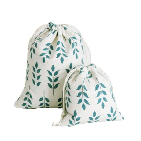 Eco Friendly High Quality Organic Cotton Make Up Cosmetics Pouch Bag