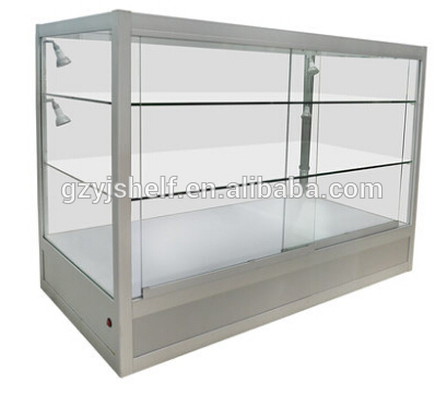 Ping Mall Lighted Gl Display Kiosk Tempered Filing