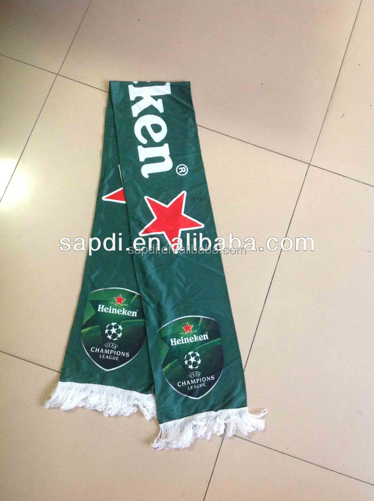 custom soccer printed polyester scarf