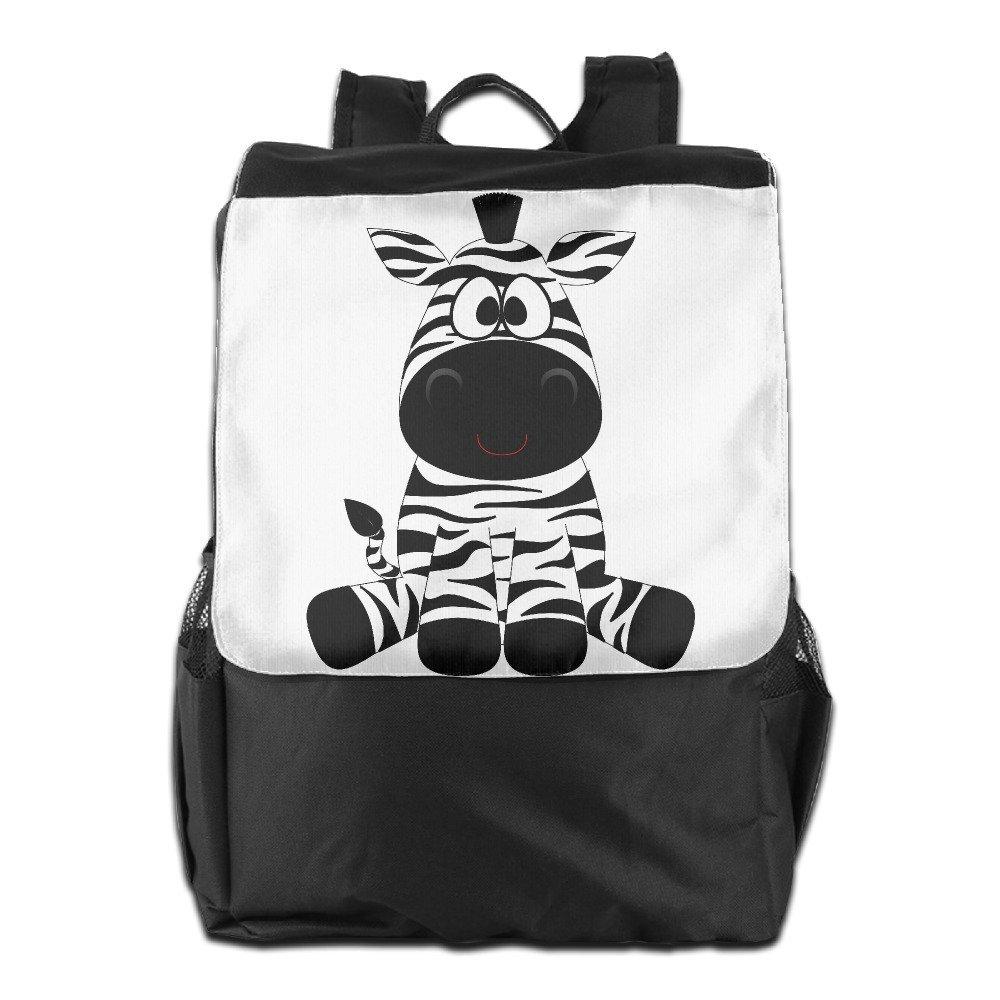 KING ROYAL Outdoor Travel Backpack Bag - Cartoon Zebra Unisex Casual Shoulder Bag Backpack Daypack Rucksack