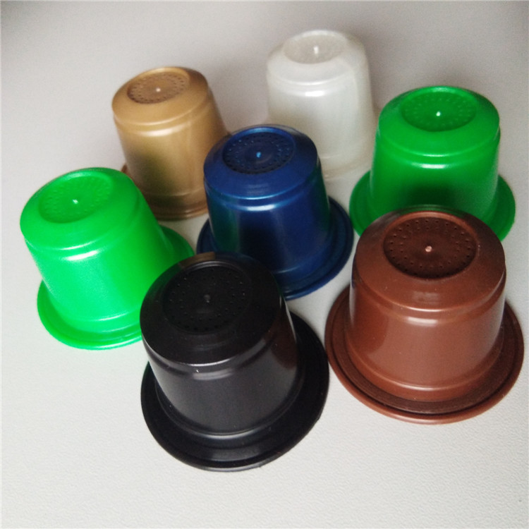Disposable degradable pla plastic empty coffee capsule k cup and filter