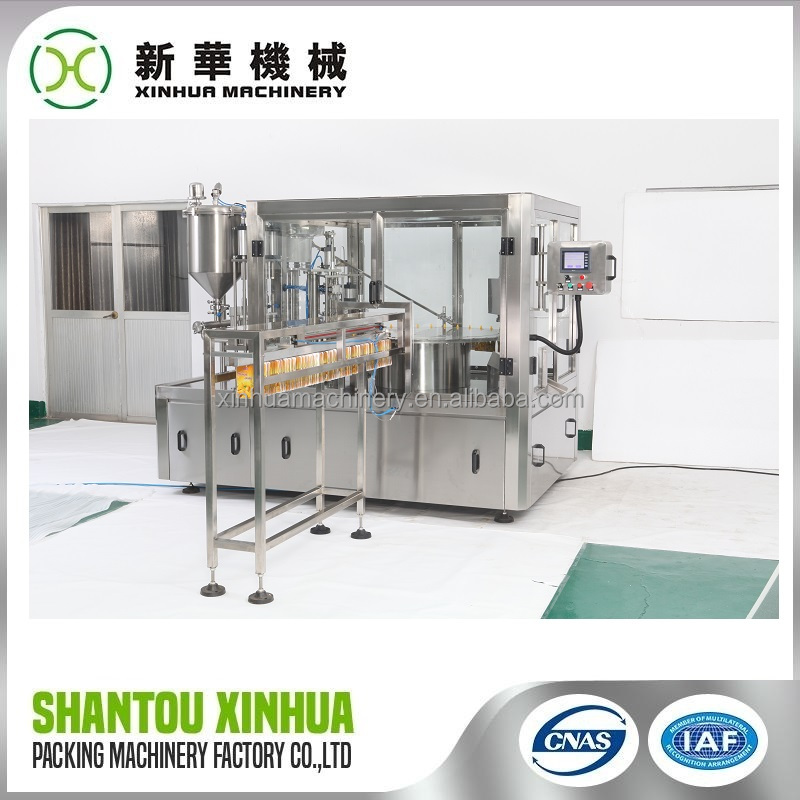 Professional machine grade soy milk doypack spout pouch filling capping machine power supply with great price