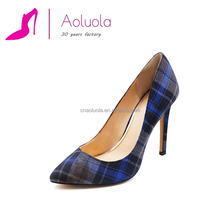 2016 new design sexy printings style women dress shoes black pointed high heel ladies shoes