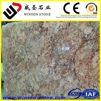2cm, 3cm gangsaw slabs in stock for selection the most popular color for countertops Golden Persa Granite slabs for sale