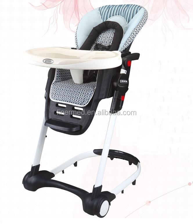 Silla alta de beb plegable ajustable mobile sillitas para - Silla alta plegable ...