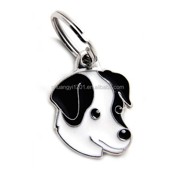 luxury dog tag disc pet enamel accessories pendant pet jewelry