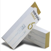 Custom USB data cable packing paper boxes beautiful paper box packing