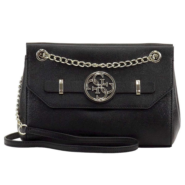 Get Quotations · Guess Women s Katlin Convertible Black Crossbody Handbag 35108365e8a39