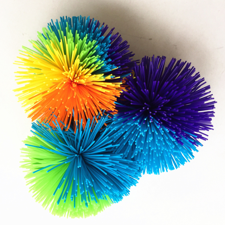 Wholesale hot quality sales original 2cm-10cm silicone customized muti- koosh toy balls