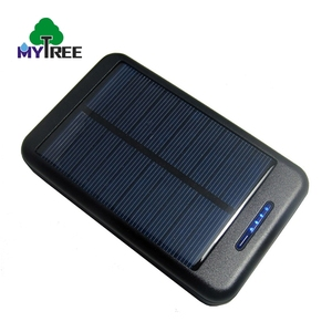 Great price dual usb port 1.5W polysilicon type cell portable power bank solar battery charger with led