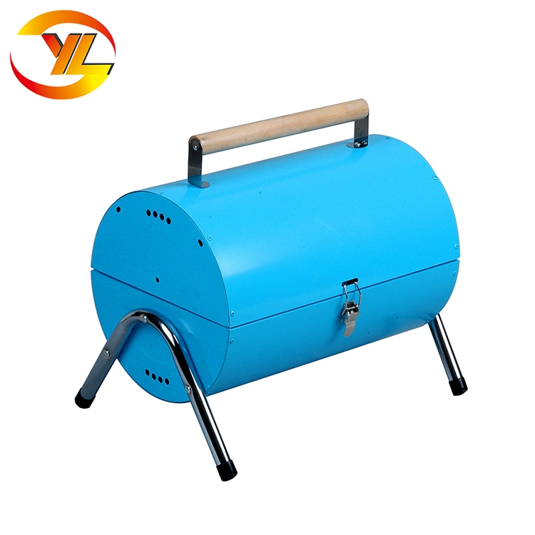 Outdoor Cooking Hot Product Cheap Price Double Side Barrel Charcoal Grill Bbq Drum Bbq Grill Mat