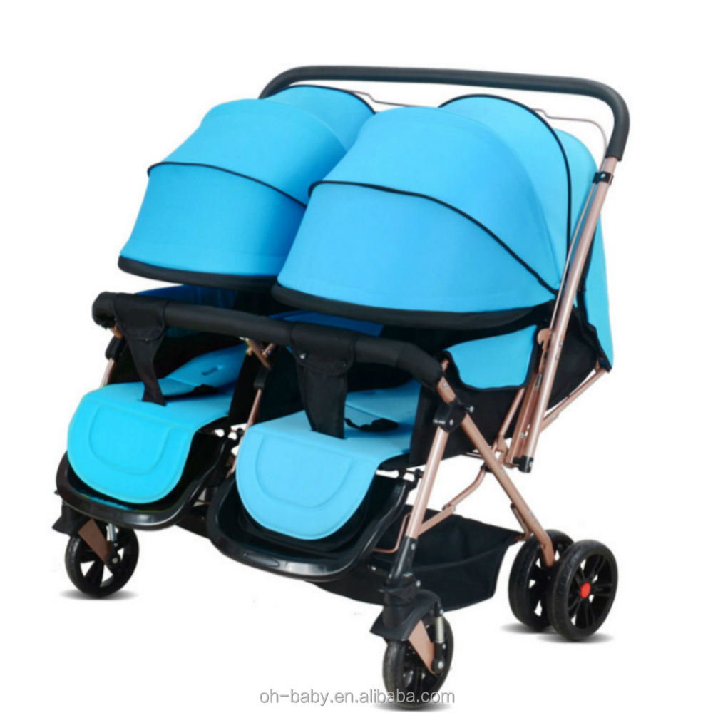 Good Quality Twins Stroller Reversible Hot Selling Luxury Kid Double Baby Pram