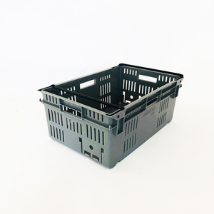 Factory 25kg 47L crates plastic stackable crate for agricultural