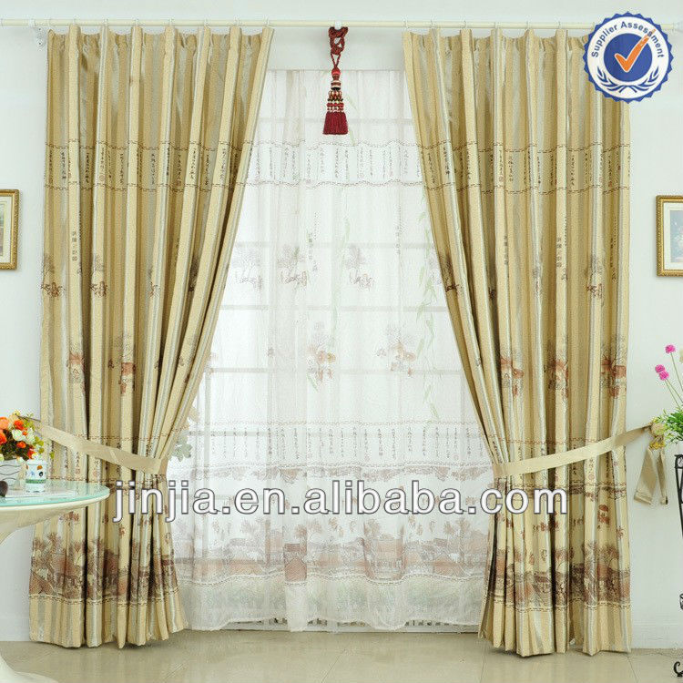 MT 1053 new polyester embroidery sheer window curtain organza curtain voile