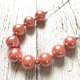 Peach Beads Chunky Bubblegum Necklace Princess Changeable Pendant Kids Necklace