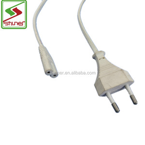 High Quality Italy 2 pin VDE Standard White Power Extension Cord