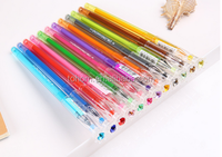 Origianl Factory good price color gel pen set rainbow gel ink pen christmas gift glitter gel pen