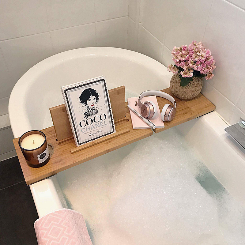 Amazon Bestseller Shower Caddy Bath Tray Bamboo Bathtub Gold ...