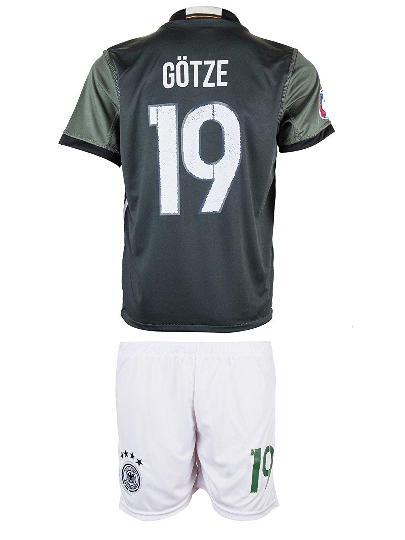 Germany Götze #19 Kids Jersey || Season 2016 2017 || Away Edition (XX-Large/12-13 Ages)