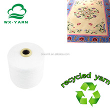 recycled yarn polyester with cotton yarn for carpets yarn