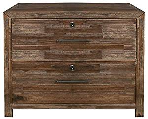 Lateral File Cabinet in Wire Brushed Acacia Finish