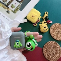 Oem logo silicone Little red riding hood Winnie-the-Pooh Monster university with Key chain for airpods case cover cartoon