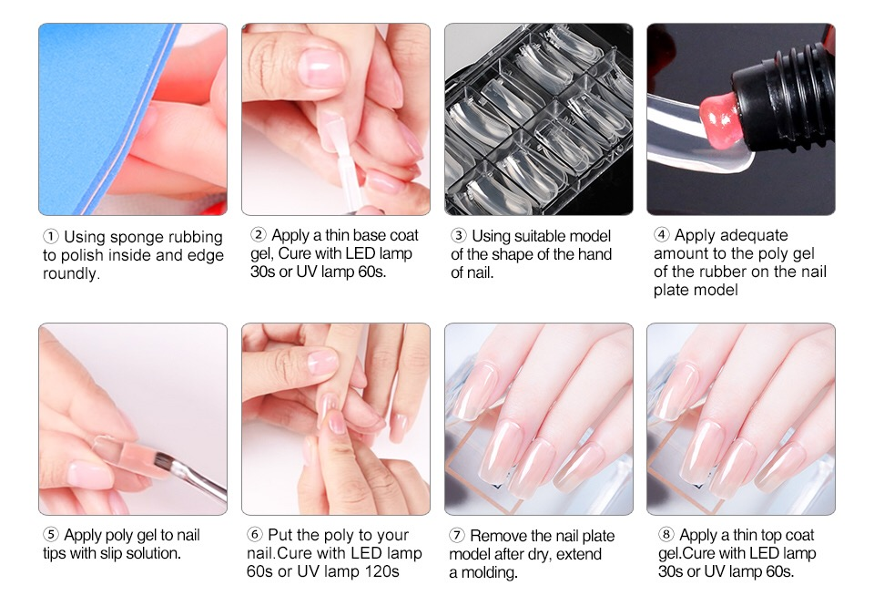 Private label 30ml extension gel new arrival poly gel soak off builder gel painting polygel polish
