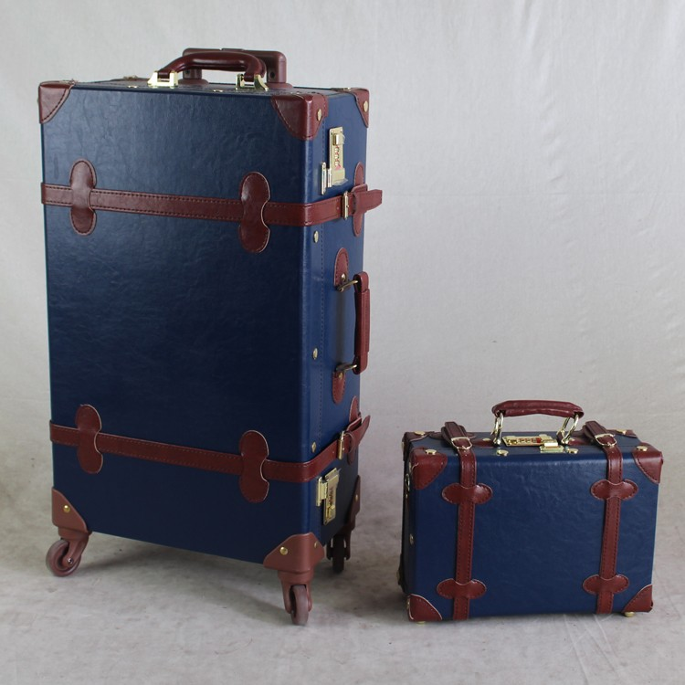 Old Looking Style Hard Shell Trolley Vintage Luggage - Buy Vintage ...