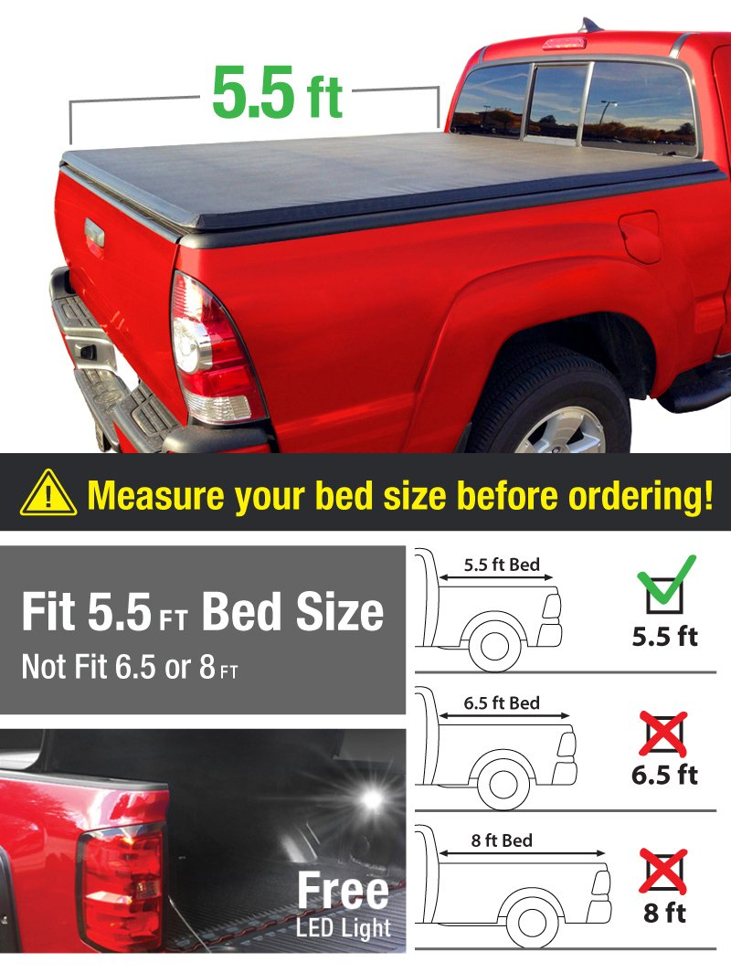 Topline Autopart Black Rubber Diamond Plate Truck Bed Floor Mat Liner For 04-14 Ford F150 Bed 78 06-08 Lincoln Mark LT 6.5 Feet