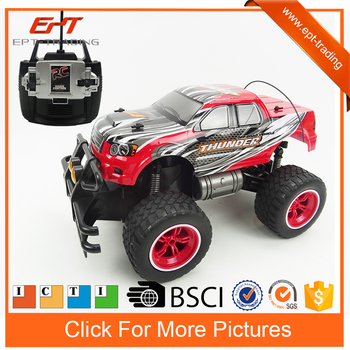 1 12 Remote Control Car Big Wheel Pick Up Truck Toy With Charger