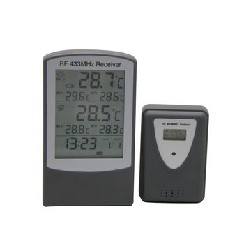 DTH-84 433mhz Wireless Thermometer With Digital Calendar Clock Thermometer