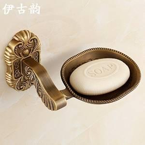 JinRou Unique design style European-style zinc alloy antique carved luxury bathroom accessories SOAP dish