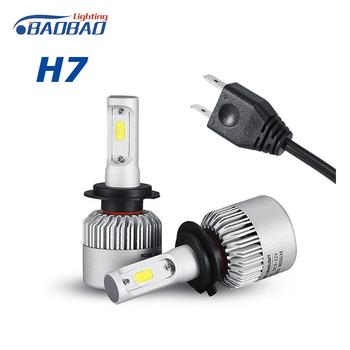 Factory Price Auto Parts Lighting 72w S2 Headlamp Bulb Led Lights Cob H11  H13 Led Car Headlight 9006 9005 H4 H7 Led Bulb Light - Buy Led Bulb
