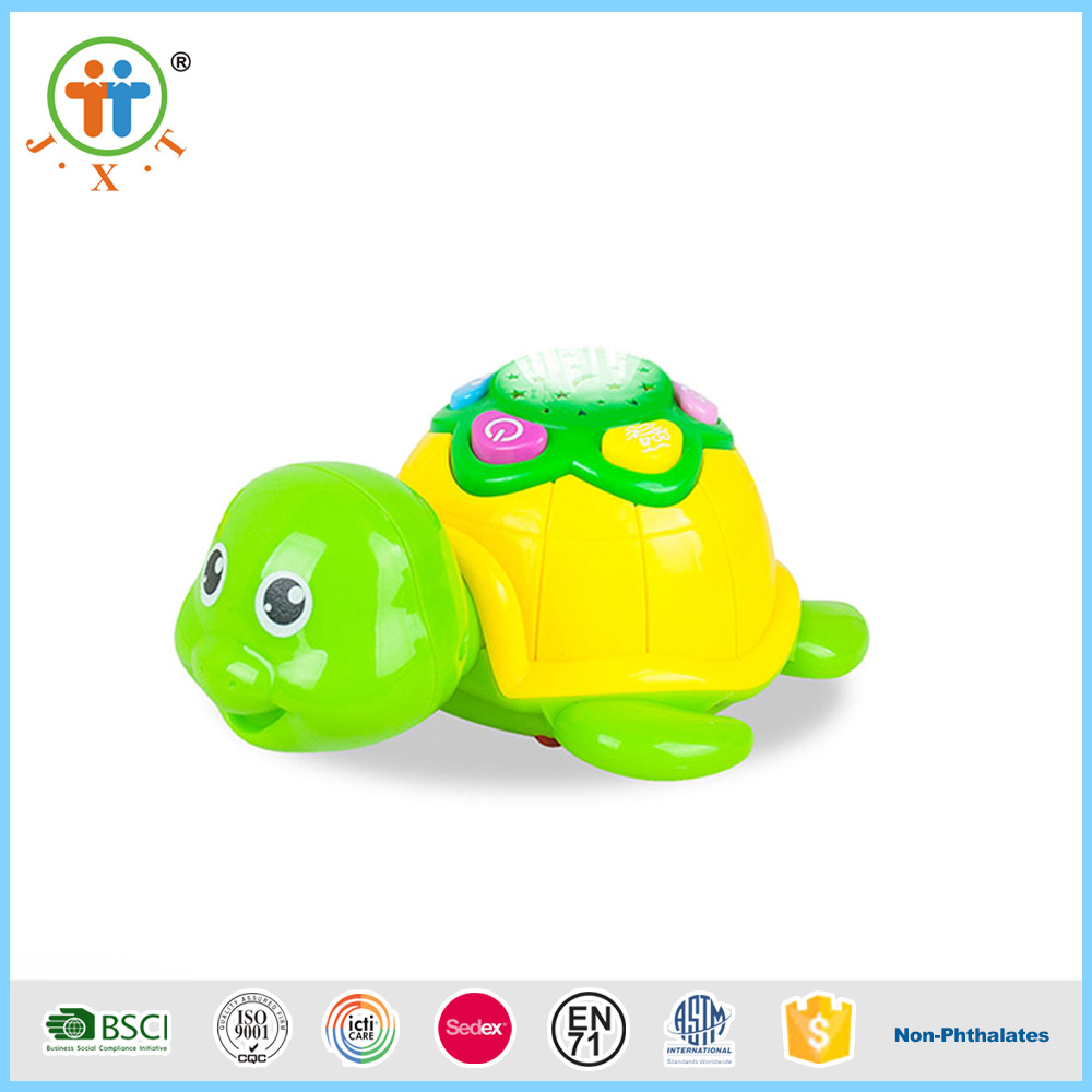 Best sellers plastic baby musical animal turtle toys for kids