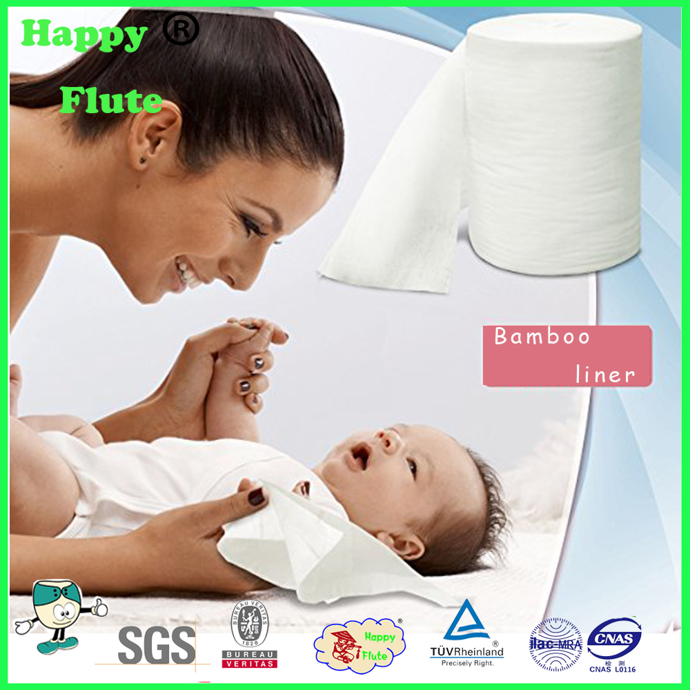 New Happy flute baby products Bamboo Cloth Diaper Liners 100 Sheets