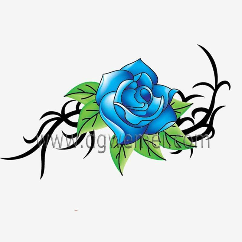 personnalis fleur tatouage temporaire avec bleu rose tatouage ph m re id de produit 616146260. Black Bedroom Furniture Sets. Home Design Ideas