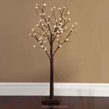 Lighted Branches Flowers Light Fixture