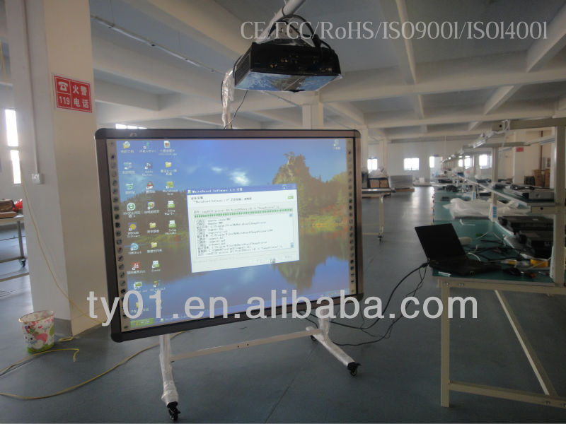 "82"" electronic smart magnetic Interactive White Board which can operate by hands or any opaque objects"
