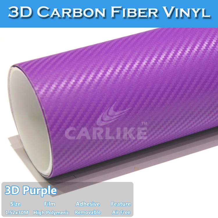 Purple 3D Carbon Fiber Sheet Vinyl Sticker Used Cars