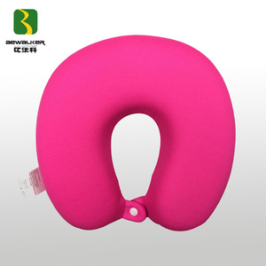 Wholesale Polyester Mesh Fabric Memory Foam Airplane Neck Pillow For Traveling Rest
