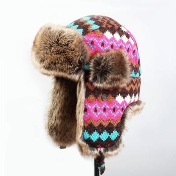 Aztec Pattern Fur Lined Trapper Hat Cudtom Earflap Winter Hat Buy