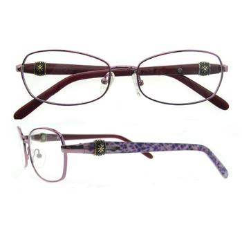 Purple Eyeglass Frames Designer Logo Frameless Eyeglasses Women Coloured  Frame Eyeglasses - Buy Eyeglass Frames Designer Logo,Frameless Eyeglasses